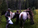 Loading up Mules in Colorado 2011 low res
