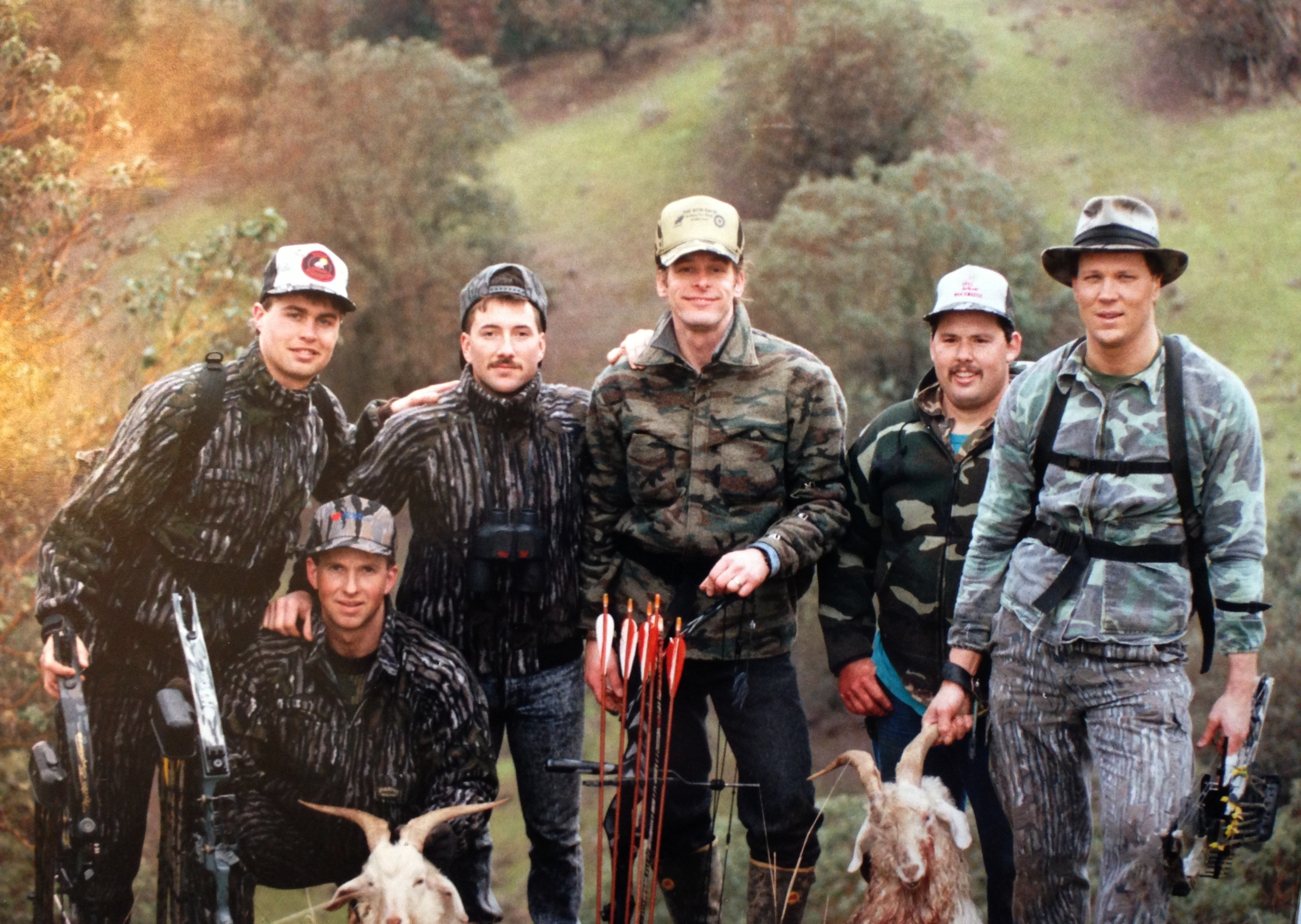 1991 hunting...bowhunting before Ted's concert in Eugene Oregon