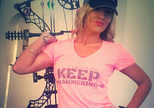 cameron hanes womens keep hammering t-shirt