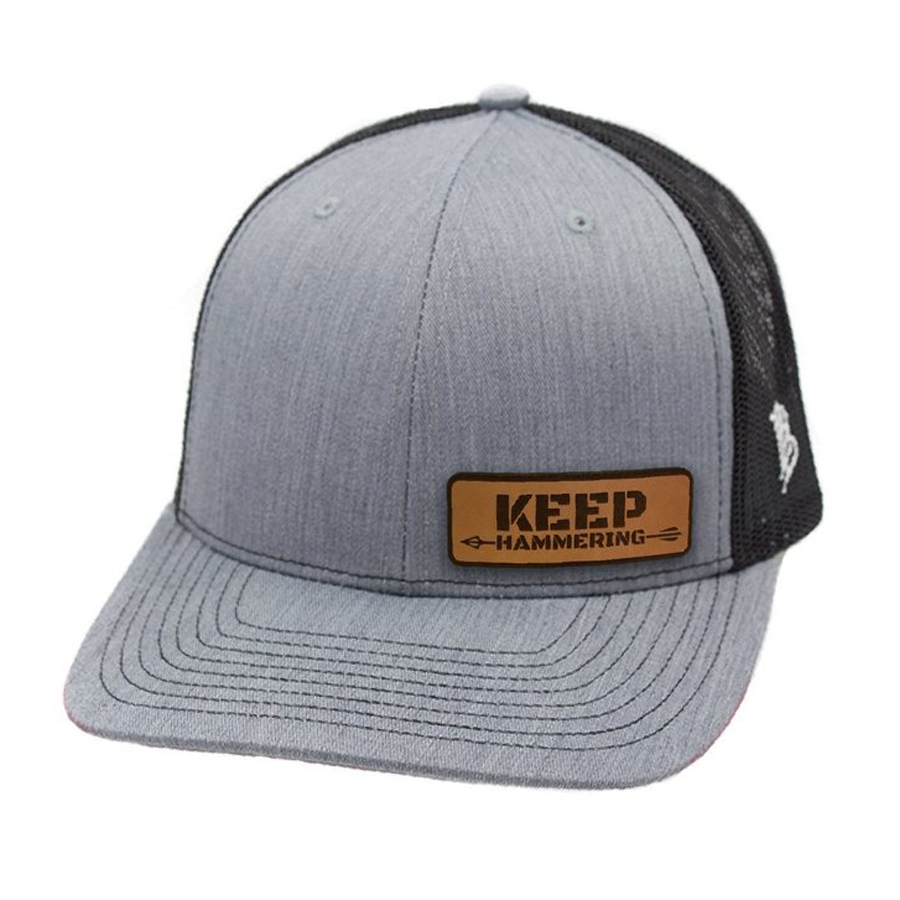 Grey Keep Hammering Leather Patch Hat - Cameron Hanes 42d93065502