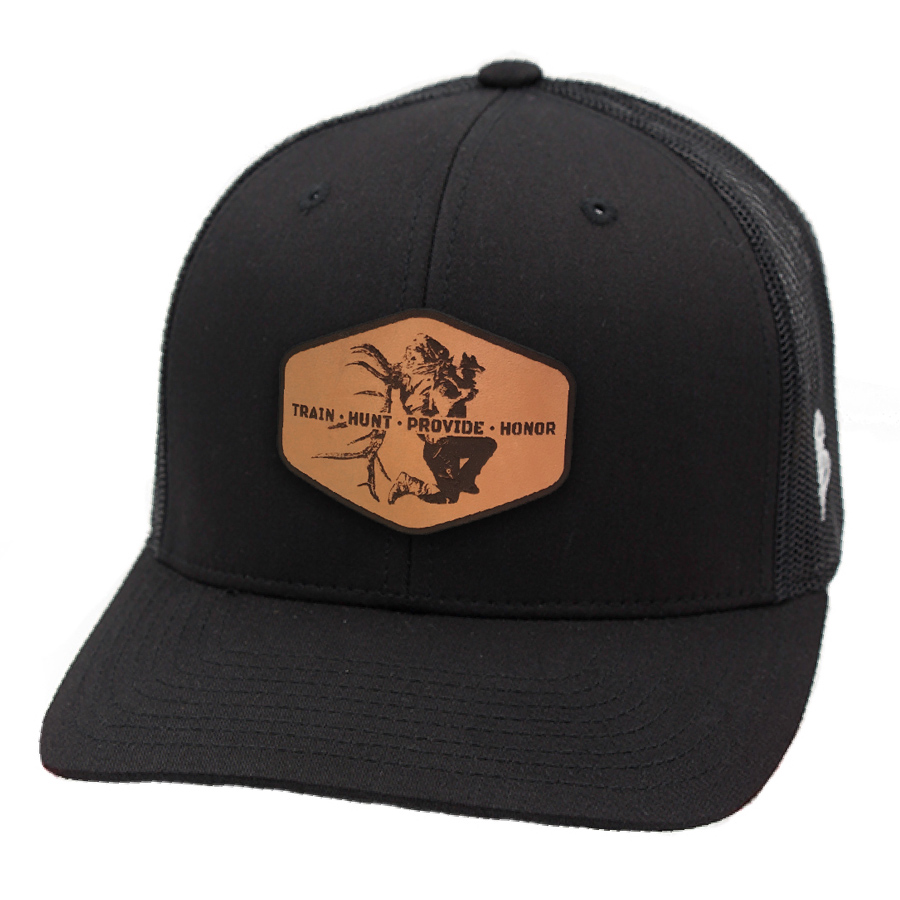 87e18897b5c Black Train Hunt Provide Leather Patch Hat - Cameron Hanes