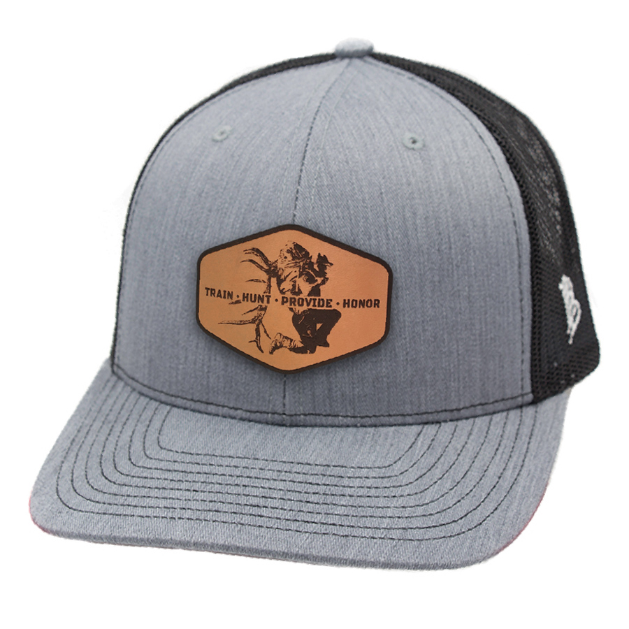ba6e0e924 Grey Train Hunt Provide Leather Patch Hat
